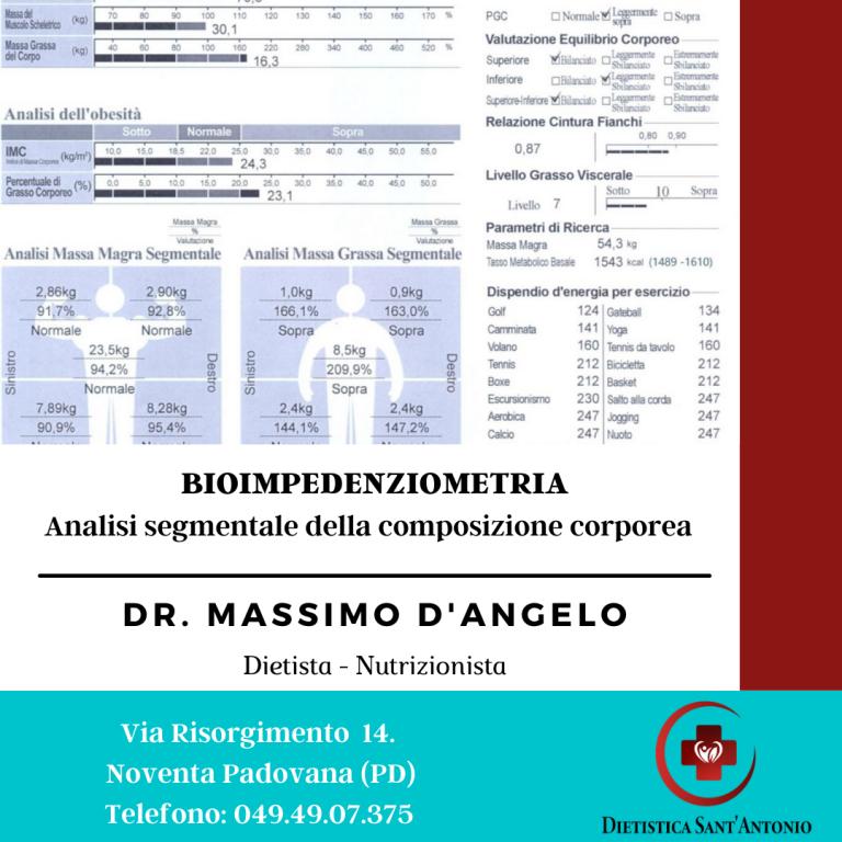 Bioimpedenziometria Padova. Valutazione composizione corporea segmentale